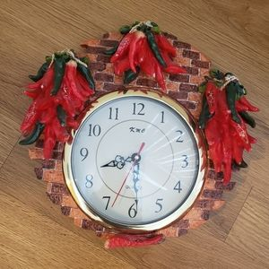 Red Chili Peppers wall clock